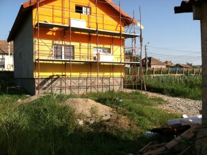 The home nearly finished in Cluj, Romania